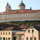 City of Melk and Stift Melk near the Danube, Wachau Austria by Ilan Cohen