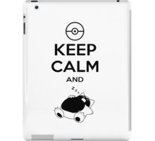 keep calm and snorlax iPad Case/Skin