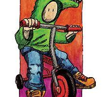 KMAY Hoodkid Croc on Bike by Katherine May