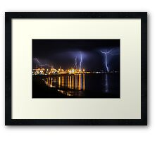 Fremantle Port Thunderstorm  Framed Print