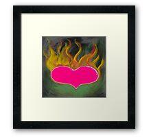 the flaming heart Framed Print