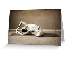 yoga12 Greeting Card