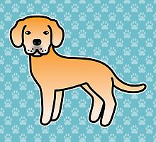 Yellow Labrador Retriever Cartoon Dog by destei