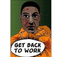 GET BACK TO WORK (Comic version) Photographic Print