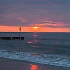 Twilight on a beach by melastmohican