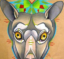 grey flying fox animal totem, spirit animal art by resonanteye