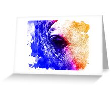 Abstract water color horse Greeting Card