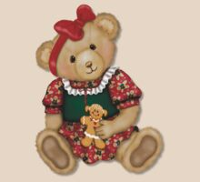 Teddy Bear Girl Beary Merry Christmas by SpiceTree