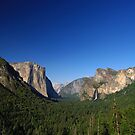 Tunnel View - Blue Bird Evening - Yosemite by Stephen Beattie