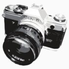 Black and White 35mm SLR Design by strayfoto