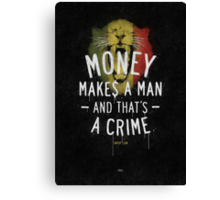 A CRIME Canvas Print