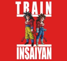 Train Insaiyan - Goku & Vegeta by irig0ld