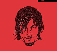 Daryl Dixon from Walking Dead (Red) by seanings
