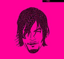 Daryl Dixon from Walking Dead (Pink) by seanings
