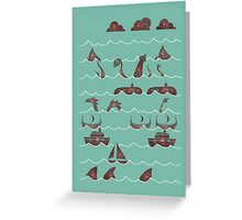 Shooting Gallery Greeting Card