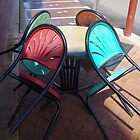 Red and Green Chairs by lezvee