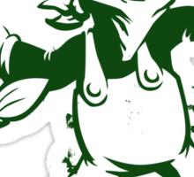 Green Flower Bomber Sticker