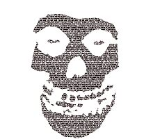 Misfits logo Skull Lyrics by Raccoon-god