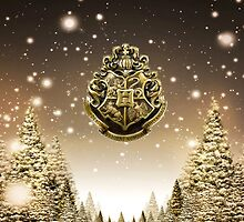 Winter Hogwarts Crest by Serdd