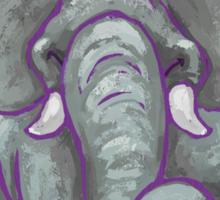Elephant Christmas Sticker