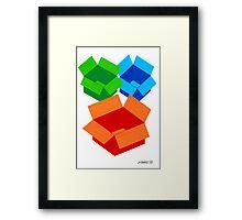 COLOURED MOVING BOXES Framed Print