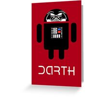 Darth Android Greeting Card