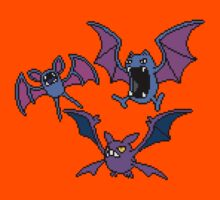 Zubat. Golbat and Crobat by Funkymunkey