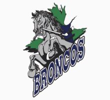 Swift Current Broncos hockey logos T-Shirts ,Stickers by boomer321sasha