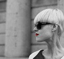 Black and white model portrait by Daniele Zighetti