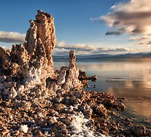Pink Clouds Above Mono Lake by Kathleen Bishop