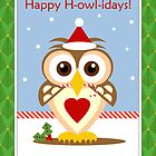 Owl Happy Holidays Card by xgdesignsnyc