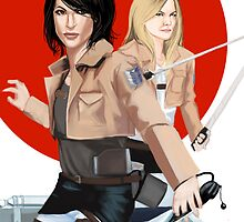 Swan queen/attack on titan by tantoun A