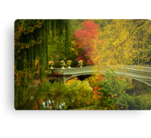 Bow Bridge In Autumn Metal Print