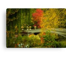 Bow Bridge In Autumn Canvas Print