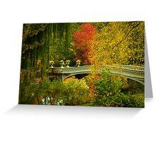 Bow Bridge In Autumn Greeting Card