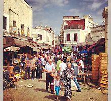 Market day in Casbalanca by Renae Walton