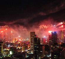 New Year Fireworks by Ray Warren