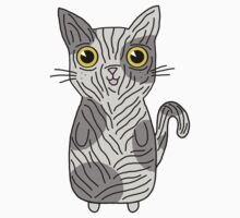 Cute Hairless Kitten Design With Splodges And Bright Yellow Eyes by Gemma1995