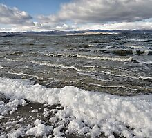 Mono Lake in Winter by Kathleen Bishop