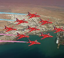 The Red Arrows - Diamond 9 by Colin J Williams Photography