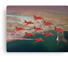 The Red Arrows - Diamond 9 Canvas Print