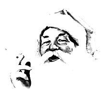 Smoking Santa. Vintage Santa Smoking A Cigarette. Antique Nostalgic Christmas by digitaleclectic