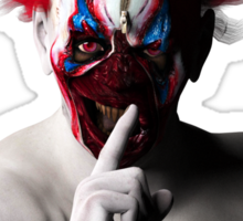 Shhhh Evil Clown Sticker