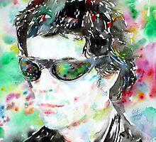 LOU REED watercolor portrait.2 by lautir