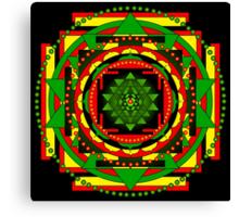 Sri Yantra Healing Mandala Canvas Print