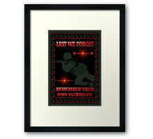 █ ♥ █ † ❤ † LEST WE FORGET-REMEMBRANCE DAY PICTURE/ CARD DEDICATION WITH ANIMATION█ ♥ █ † ❤ † Framed Print