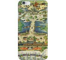 Vintage National Geographic Disneyland Map iPhone Case/Skin