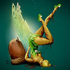 Zombie Pin-up Tinkerbell by jeffarnold86