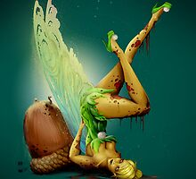 Zombie Pin-up Tinkerbell by Jeff Arnold