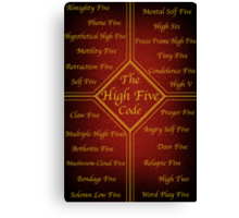 The High Five Code Canvas Print